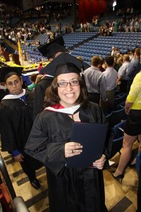 2010, college graduation. I really like that this angle doesn't show my multiple chins.