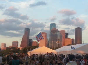 FPSF is held in the shadow of downtown Houston. I can never get enough of this skyline.