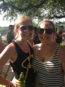 With Adam's sister Allison. Because sweaty music festival pictures are always in style.
